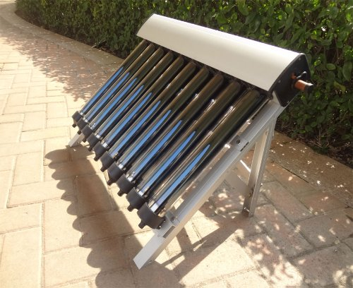 Solar Collector of Solar Hot Water Heater / with 10 Evacuated Tubes / Heat Pipe Vacuum Tubes, new/Colector solar del calentador de agua caliente solar / con 10 Tubos de vacio / Heat Pipe Tubos de vacio, nuevo