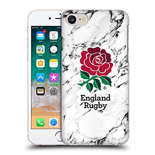 Head Case Designs Offizielle England Rugby Union Weiss Marmor Harte Rueckseiten Handyhülle Hülle Huelle kompatibel mit Apple iPhone 7 / iPhone 8 / iPhone SE 2020