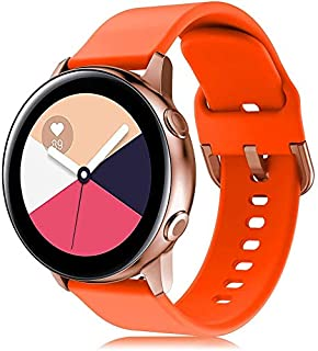 RIOROO Compatible for Samsung Galaxy Watch Active Bands/Active2 Bands 40mm/42mm/44mm,Women Men Soft Slim Silicone Wristban...