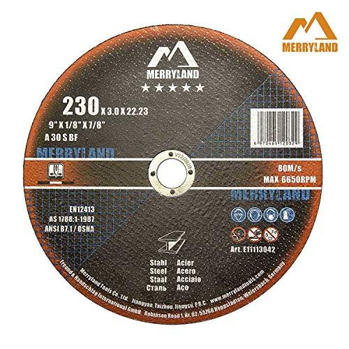 Merryland 230 X 3,0 Experto-line Disco de Corte para Acero Metal 25PCS