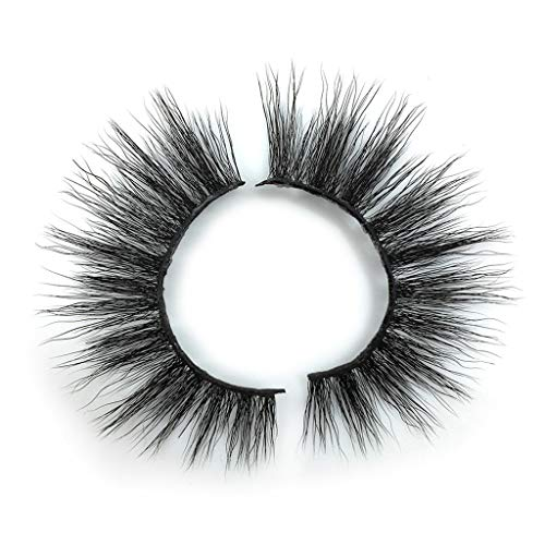 IYU_Dsgirh Luxury 1 Paire False Lashes Cils Fluffy Strip Longs Maquillage Naturel de Fête Cils & Emballage Diamant (BLACK)