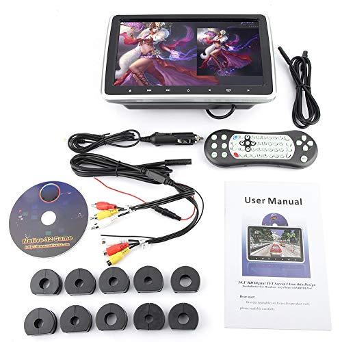 Duokon Draagbaar kussen voor in de auto, MP5, TFT HD, hoofdsteun, dvd-speler, clip-on digitale monitor, voor kinderen