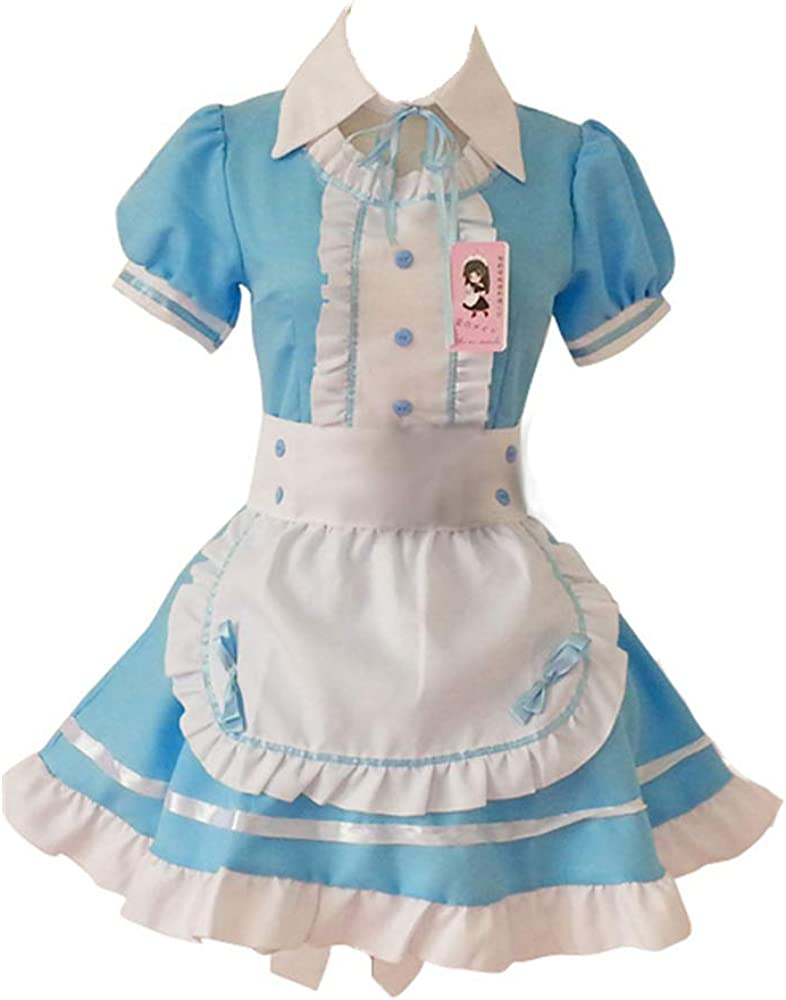 fjnannan Women Anime Easy-to-use Maid Dress French Fancy Adult Apron Bargain Cosplay