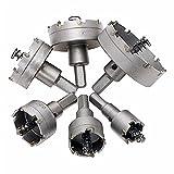 –Juego de 6brocas de aleación de acero inoxidable para sierra de corona 22mm/30mm/35mm/45mm/50mm/65mm para la instalación de cerraduras punta carburo