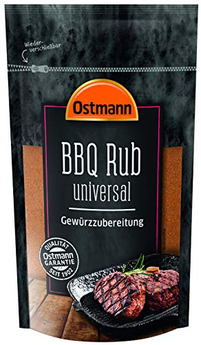 Ostmann BBQ Rub universal herzhafter Geschmack für Fleisch und vegetarische Gerichte, 2er Pack (2 x 250 g)