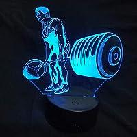3DイリュージョンランプLEDナイトライトファッショナブルなゲームアクションクリスタル可変気分7色最高の子供の誕生日ホリデープレゼント