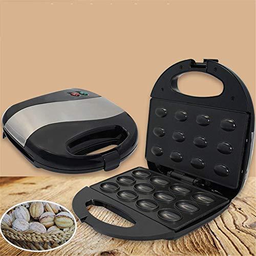 YLiansong-kitchen Máquina para Cupcakes y Magdalenas Tuerca doméstica Máquina for Hornear Máquina for Hornear Family Health Grill para niños Desayuno Bricolaje (Color : Negro, tamaño : 23x23x7cm)