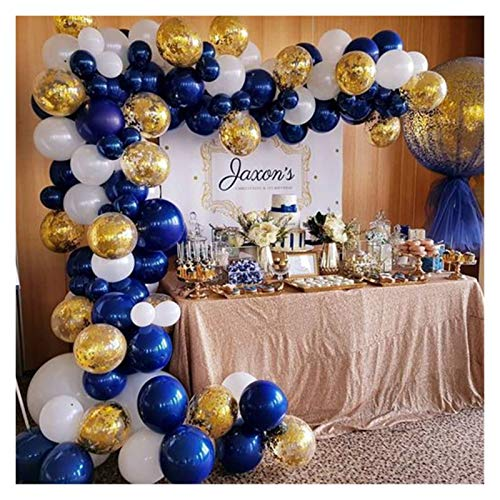 Children party balloons 102pcs Retro Color Navy Blue Balloon Arch Garland Kit Baby ShowerWedding Hawaiian Party Birthday Ballons Decoration (Color : Set 1)