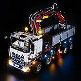 HYQX Kit de luces LED para Lego 42043 Technic Mercedes-Benz Arocs 3245 Truck,Lights Juego de iluminación compatible con Lego 42043 (juego de luces LED solamente, no kit de lego)