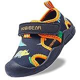 Gaatpot Mixte Enfants Sandales pour Bébé Fille garçon Bout Fermé Sandale de Trekking Piscine Plage Été Souple Chaussures de Sport Outdoor Noir 27.5 EU
