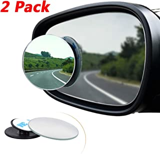 2 Pcs Blind Spot espejo, Rimless HD cristal gran angular 360 ° canvex espejo retrovisor de coche lado espejo Stick de coche universal Fit Automóviles, SUV, Furgonetas, Camiones