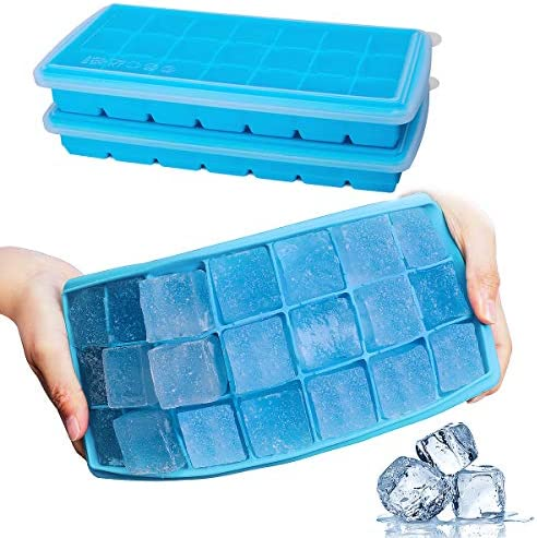 Ice Cube Trays GDREAMT 2 Pack Silicone Ice Tray with Removable Lids Easy Release Flexible 21 product image