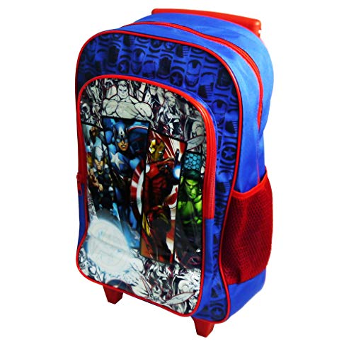 Marvel Avengers Children's Character Luggage Deluxe Wheeled Trolley Backpack Suitcase Cabin Bag School