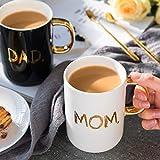 Qiqi - Tazza da caffè in ceramica, idea regalo per MOM e DAD