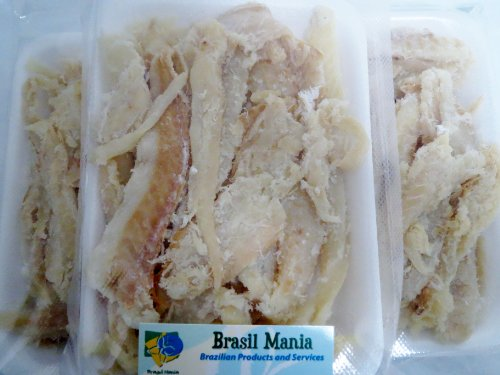 Bacalhau Bacalao Dry Salted Cod Pieces, No Bone No Skin 3-pack