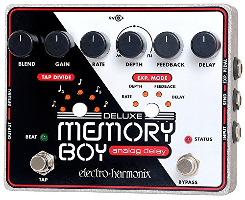 Electro Harmonix Deluxe Memory Boy Pedal for Electric Guitar Silver