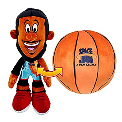 """Space Jam: A New Legacy - Transforming Plush - 12"""" LeBron James into a Soft Plush Basketball - Exclusive"""