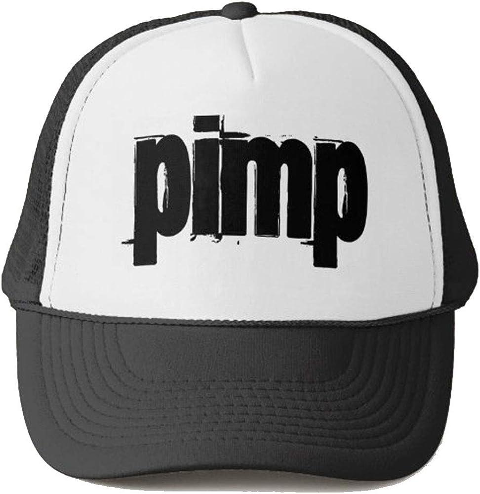 steamship n Pimp Trucker Hat Summer Mesh Cap with Adjustable Snapback Strap Baseball Cap Unisex Headwear Black