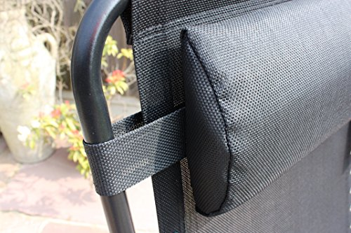 Horizon Set of 2 Garden Anti Gravity Sun Lounger Chairs - Black