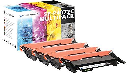 4 Schneider Printware Toner | 80% mehr Druckleistung | kompatibel zu CLT-P4072C für Samsung CLP-320 CLP-325N CLP-325 CLP-325W CLX-3180 CLX-3185 CLX-3185FN CLX-3185FW CLX 3185N 3185W