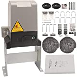 GUAILAO Automatic Sliding Gate Opener - Sliding Gate Motor - Driveway Gate Opener Kit with Remote,Safety Sensor for Rolling Gate Up to 1400LBS