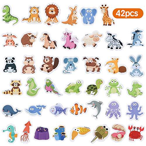 Baobë Animales magnéticos,Imanes Nevera para niños,Animales imanes niños