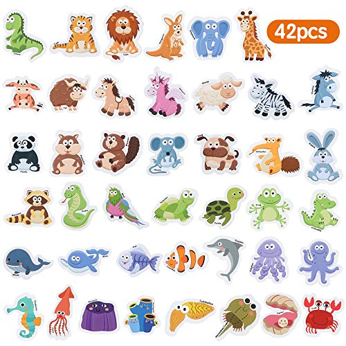 Baobë Magnete Kinder ,Magnete Spielzeug,Tiermagneten ,42 Tiere Spielzeug