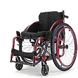 wheelchair Sillas de ruedas livianas 13Kg Transporte plegable portátil Silla de ruedas Asiento ergonómico 100Kg Carga de carga 40 40Cm Asiento Moda deportiva Tipo de silla de ruedas Fg