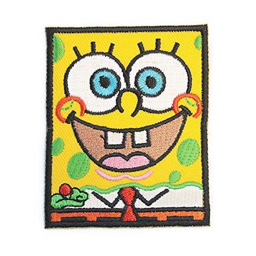 spongebob スポンジボブ キャラクター ワッペン 黄