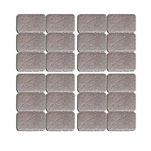 Almohadillas para muebles de primera calidad, almohadillas gruesas antideslizantes para los pies Pinza para muebles propios - Topes deslizantes - Almohadillas adhesivas (28X42MM 24PCS)