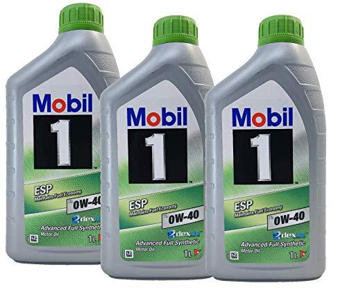 Mobil 1 Motorschmieröl ESP X3 0W-40 Dexos 2, Packung 3 Liter