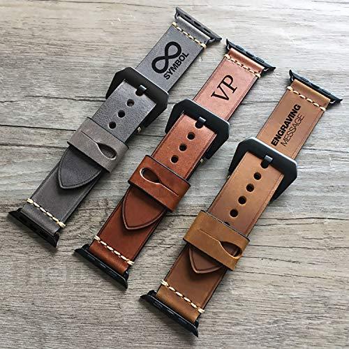 Apple Watch band, Apple Watch Strap 38 40 42 44 mm Correa de cuero gen