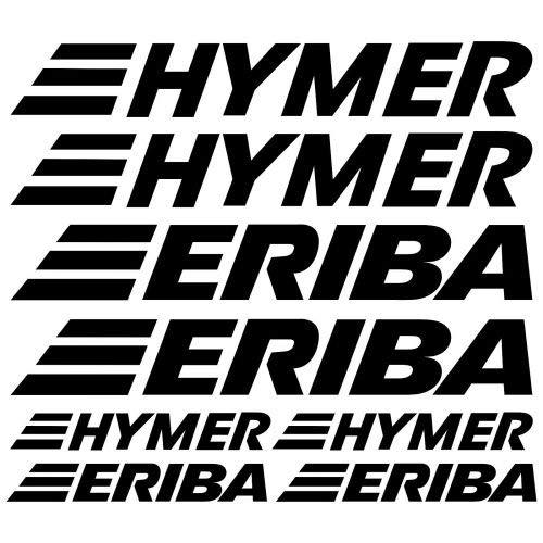 myrockshirt HYMER ERIBA XL Aufkleber Aufkleber Wohnmobil Camper Wohnwagen Caravan Camping Sticker 8 Stücke ca.30cm Aufkleber Autoaufkleber Sticker Decal ohne Hintergrund UV&Waschanlagenfest