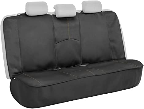 Motor Trend SpillGuard Waterproof Rear Bench Car Seat Cover – Split Bench Compatible with Neoprene Padding, Ideal Back Seat Cover for Cars Baby Kids Dogs, Universal Automotive Seat Cover Truck SUV: image
