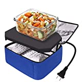 Portable Food Warmer,Lunch Bag,Personal Mini Oven,Prepared Meals Reheating & Raw Food,110V for Home Kitchen,Office,Travel by Aotto(Blue)
