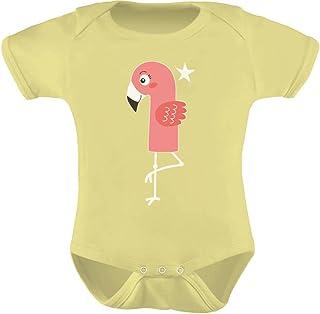 Tstars - 1st Birthday Gift for One Year Old Infant Flamingo Baby Bodysuit