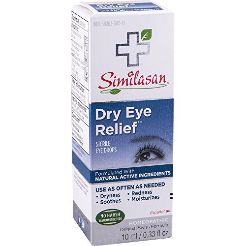 Similasan Dry Eye Relief Eye Drops 0.33 Ounce Bottle, for Temporary Relief from Dry or Red...