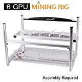 AAAwave 6 GPU Mining Rig Frame - Stackable Open Frame Design Mining Rig Case with Fan mounts - Crypto Currency ETH Coin GPU Miner Chassis. Ethereum/Zcash/Decred