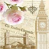 Servilletas de papel decorativas vintage de lujo para decoración de vajilla, decoupage Craft Party ocasión - Londres N11