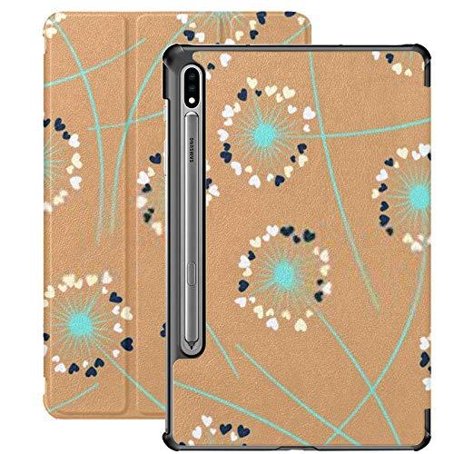 Funda para Galaxy Tab S7 Funda Delgada y Ligera con Soporte para Tableta Samsung Galaxy Tab S7 de 11 Pulgadas Sm-t870 Sm-t875 Sm-t878 2020 Release, Cute Dandelion Blowing Vector Floral Seamless