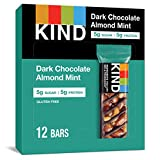 KIND KIND Bars, Dark Chocolate Mint, Gluten Free, Low Sugar, 1.4oz, 12 Count