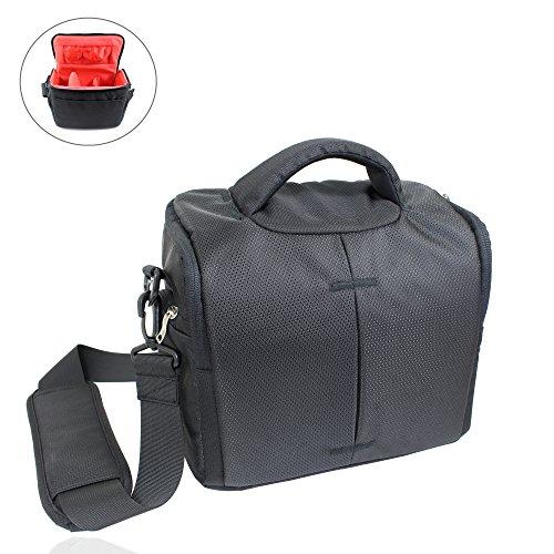 Smart-Planet® hoogwaardige, grote SLR cameratas/spiegelreflexcamera tas met vele vakken incl. regenhoes - camera tas zwart