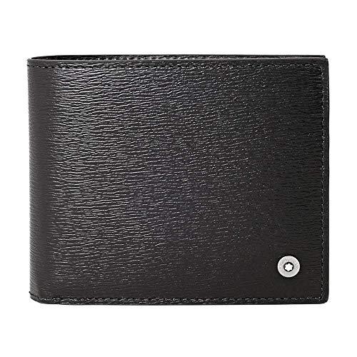 Montblanc Cartera para 6 Tarjetas con 2 Bolsillos Transparentes 4810 Westside, Portafoglio-Borsa Unisex-Adulto, Negro(Negro), única
