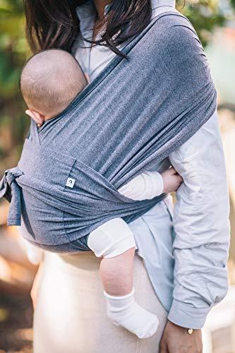 【ママリ口コミ大賞受賞】コニー抱っこ紐(Konny)スリング新生児から20kg収納袋付き国際安全認証取得ぐっすり抱っこひも(チャコール)(M)