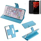 K-S-Trade Flipcover für NOA H10le Schutz Hülle Schutzhülle Flip Cover Handy case Smartphone Handyhülle blau