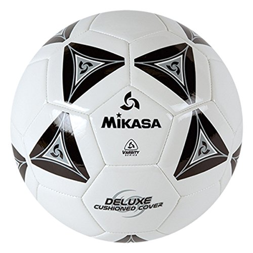 Mikasa Serious Soccer Ball (Black/White, Size 4)