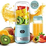 Portable Mini Blender USB Rechargeable with 2 Tritan Bottles BPA-Free, Personal Blender for...