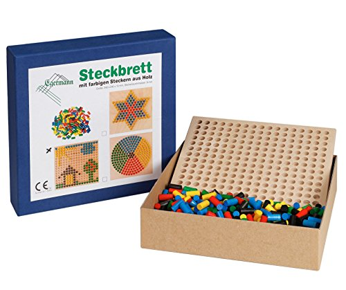 Unbekannt Egermann EH213/231 - Steckspielbrett Holzsteckspiel Reihe, Kleinkindspielzeug