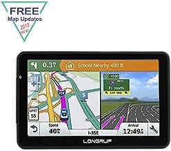 Car GPS Navigation LONGRUF, 256-8GB Voice Conversion Car GPS Navigation Car Lifetime Map Free Update
