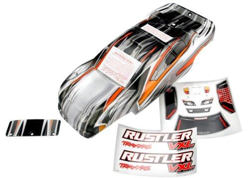 Traxxas 9.436,1cm Rustler VXL Prographix mit Aufkleber/Wing und Alu Hardware Body Modell Kfz-Teile